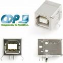 Conector USB B Hembra para soldar en placa